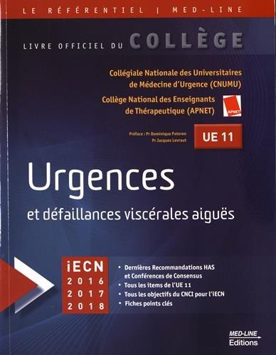 Urgences et dfaillances viscrales aigus UE 11