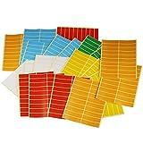 LJY Rechteck Aufkleber klein Kennzeichnung Farbe Etiketten 8cm x 1,9cm, 6verschiedene Farben