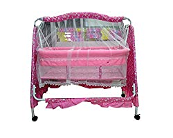 Glamour Trading ,�Baby Cradle With Swing and Mosquito Net-Medium, Pink
