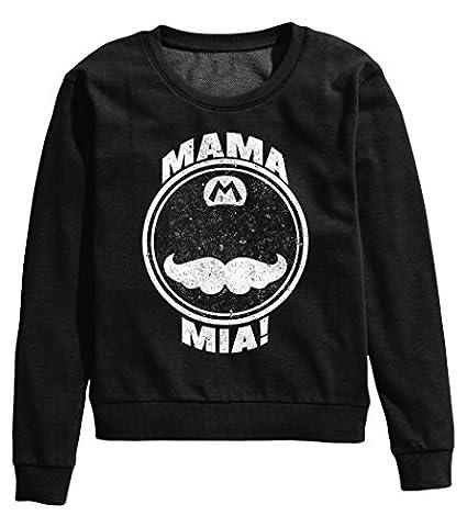 Mario Inspired Mama Mia Femme Pullover Sweatshirt XXL