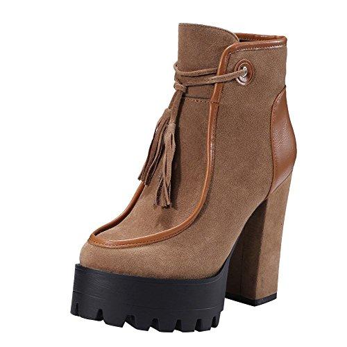 MissSaSa Donna Scarpe col Tacco Alto Elegante Boots braun