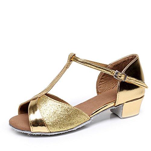 scarpe da ballo latino per bambini/Ragazze da ballo paillettes scarpe/Scarpe inferiori molli/ dancing shoes A