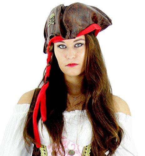 Foxxeo Piraten Hut für Erwachsene - Damen und Herren Piraten Mütze zu Fasching Karneval (Damen Hüte Piraten)