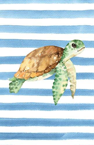 Sea Green-stripe (Green Sea Turtle Watercolor Stripe Journal, Blank Sketch Paper: Sketchbook Artist Notebook with Unlined Drawing Paper (Coastal Beaches & Nautical))
