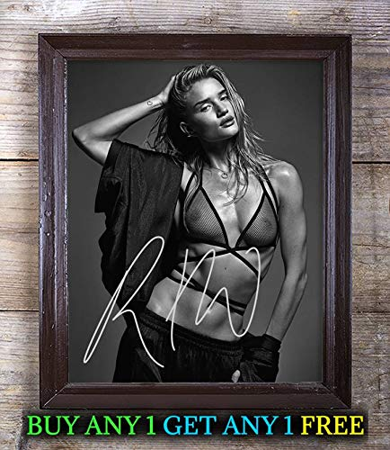 Rosie Huntington-Whiteley Transformers Autographed 8x10 Photo Reprint #50 Special Unique Gifts Ideas for Him Her Best Friends Birthday Christmas Xmas Valentines Anniversary Fathers Mothers Day