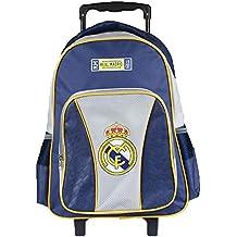 Real Madrid Mochila Trolley Mochilas escolares Bolsos Maleta Equipaje Mano 32x43x18cm