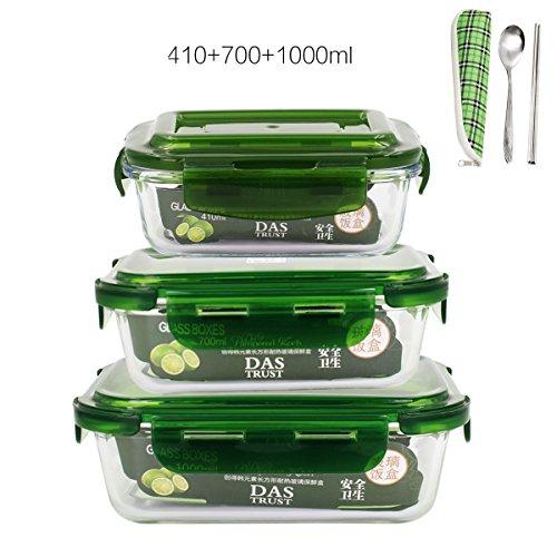 De vidrio, caja de almuerzo, horno microondas caja especial, Frigorifi