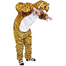 Ikumaal Tiger-Kostüm, AN28 Gr. M-XL, Fasnachts-Kostüme Tier-Kostüme, Tiger-Faschingskostüm, für Fasching Karneval Fasnacht, Karnevals-Kostüme, Faschings-Kostüme, Geburtstags-Geschenk Erwachsene