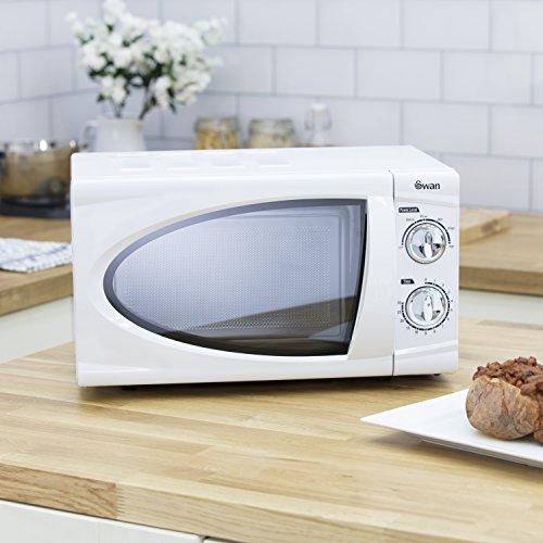 Swan SM3090N Digital Solo Microwave with 6 Power Levels, 800 Watt, 20 Litre, White