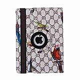 Fen iPad Mini Klapp Box, iPad Mini Retina, 360drehbar PU Leder Mehrwinkel Stent Smart Chassis Apple iPad Mini iPad Mini mit Retina Display, Grau