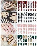 Falsche Nägel Set,Künstliche Nail Tips,96 Stück Künstliche Fingernägel...