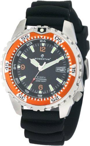 Momentum Men's 1M-DV06O1B M1 Deep 6 Orange Bezel Polyurethane Dive Watch