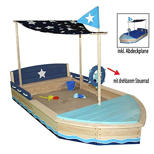 Sun Sandkasten Schiff XL Massivholz by Woodinis®