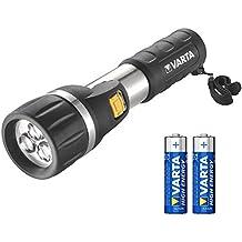 Varta 3x 5 mm LED Day Light (Taschenlampen Flashlight Leuchte Lampe Arbeitsleuchte Taschenleuchte Taschenlicht geeignet für Haushalt, Camping, Angeln, Garage, Notfall, Stromausfall, Outdoor)