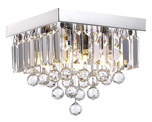 WXCCK Moderne Kristall Kronleuchter Pendelleuchte, Deckenleuchte Unterputz Led Leuchte Kronleuchter Für Arbeitszimmer/Büro Esszimmer Schlafzimmer Wohnzimmer -