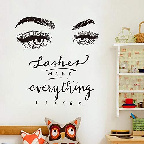 s Gesicht Augen Und Lippen Wandkunst Aufkleber Malerei Zimmer Dekoration Fertige Größe 57X60 Cm Wandbild Aufkleber ()