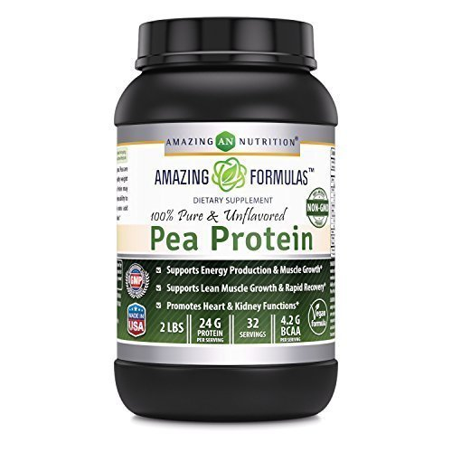 Amazing Formulas 100% Pure & Unflavored Pea Protein Dietary Supplement - 2 lbs - Supports Energy Production and Muscle Growth (Hunger Suppressant)