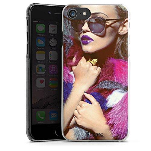 Apple iPhone X Silikon Hülle Case Schutzhülle Frau Sonnenbrille Lippenstift Hard Case transparent