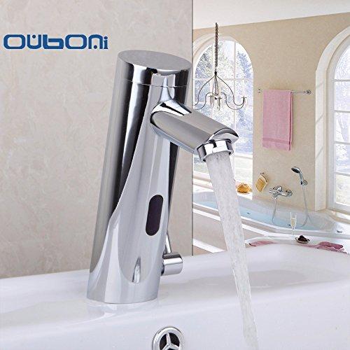 TougMoo Moderne Motion Sensor Wasserhahn Automatische Hand berührungslosen Heiß Kalt Mixer Badezimmer Waschbecken Infrarot Wasserhahn Mischbatterie (Wasserhahn Waschbecken Motion)