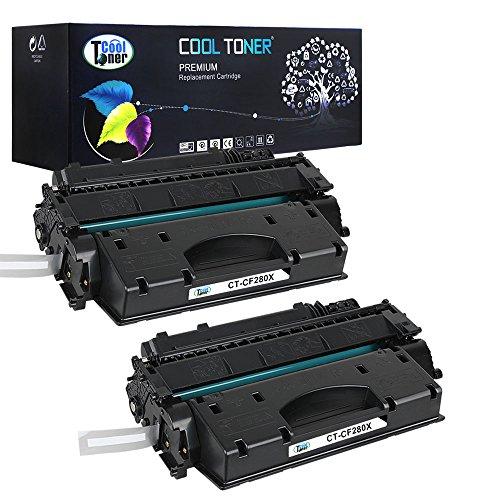 Preisvergleich Produktbild 2 Pack Cool Toner kompatibel Toner CF280X 80X CF280XD Schwarz Tonerkartusche für HP LaserJet Pro 400 M401a M401d M401n M401dn M401dne M401dw, HP LaserJet Pro 400 MFP M425dn MFP M425dw, 6900 Seiten