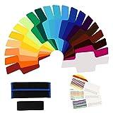 MYAMIA 20Stk Color Universal Filter Kit Mit Tasche Für Canon Nikon Sony Pentax Olympus Flash Speedlite