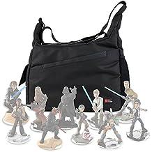 DURAGADGET Bolsa Con Bandolera Para Guardar / Organizar Las Figuritas Disney Infinity 3.0 - Star Wars - Con Compartimentos Internos De Quita Y Pon