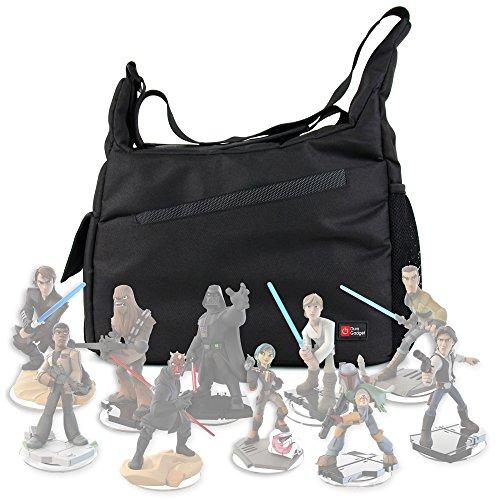 DURAGADGET Bolsa Con Bandolera Para Guardar / Organizar Las Figuritas Disney Infinity 3.0 - Star Wars - Con Compartimentos Internos De Quita Y
