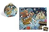 Janod J02922 - Puzzle Im Koffer 36 Teile, Piraten