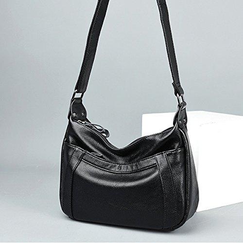 Frauen Mode Handtasche Pu-leder Crossbody Umhängetasche Für Dame Black