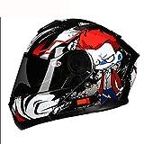 JohnnyLuLu Modularer Motorrad-Sturzhelm mit offenem Gesicht und ECE-zertifiziertem Doppelvisier für Motorroller für Erwachsene,B,L -