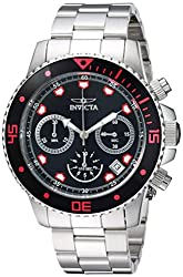Invicta Mens Pro Diver Quartz Stainless Steel Casual Watch, Color:Silver-Toned (Model: 21885)