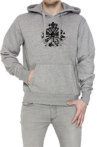 The King Of Poker Uomo Grigio Felpa Felpa Con Cappuccio Pullover Grey Men's Sweatshirt Pullover Hoodie