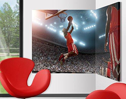 Bilderwelten Eckleinwandbild Dunking 2:1 Basketball Streetball Sport FIBA Stadion Basketball, Kante: Innenecke, Größe: 100cm x 150cm (Basketball-stadion)