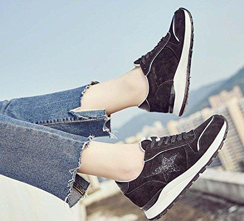 Chaussures Décontractées Chaussures Femme Sneaker Chaussures De Course En Satin Rayé Noir