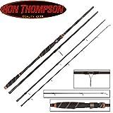 Ron Thompson Tyran NX-Series Travel 300cm 20-60g - Spinnrute zum Spinnfischen auf Hecht, Barsch, Zander & Forelle, Reiserute