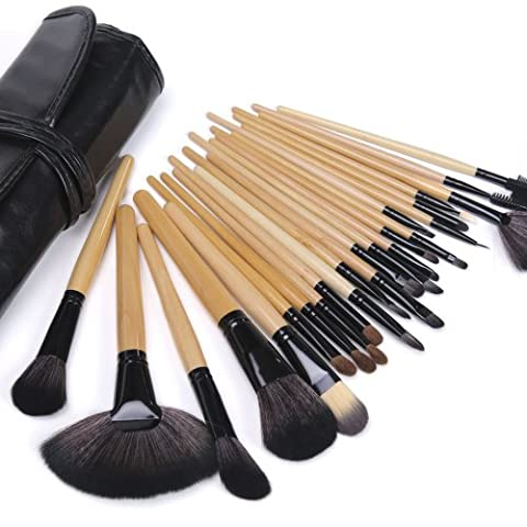 Lychee New Cosmetic Tool Kit 24Pcs Makeup Brushes Eyeshadow Powder Brush Set