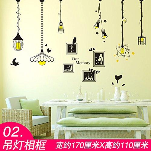 TIANLU Pvc 3D Stereo Schlafzimmer Wohnzimmer Wand Aufkleber beliebte Frische und stilvolle Zimmer in einem Home Office zwangloses Dekor Urban Wallpaper,02 Kronleuchter Bilderrahmen (Urban Wand-dekor)
