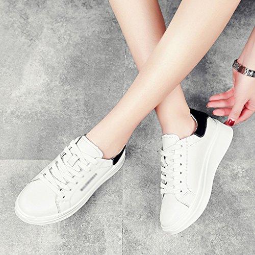 Scarpe Bianco colore Piatto Spessore Asc Verde Casuali Donna Dimensione Di Primavera 39 Di Donne Nero Fondo Sport Bianche EBBw647q