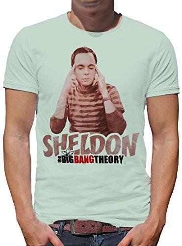 TLM The Big Bang Theory - Sheldon Thinking T-Shirt Herren S Light (Big Bang Kostüm Amy)