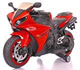 Toy House Yamaha R1 Plastic Bike with Rechargeable Battery Operated Ride-on for Kids