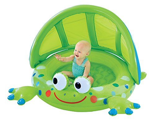 early-leaning-centre-frog-baby-shade-pool-padded-base-and-inflatable-shade-wall-great-first-pool-for
