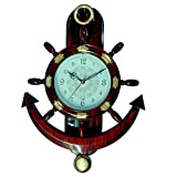 Abee Fancy Decorative Anchor Wall Clock
