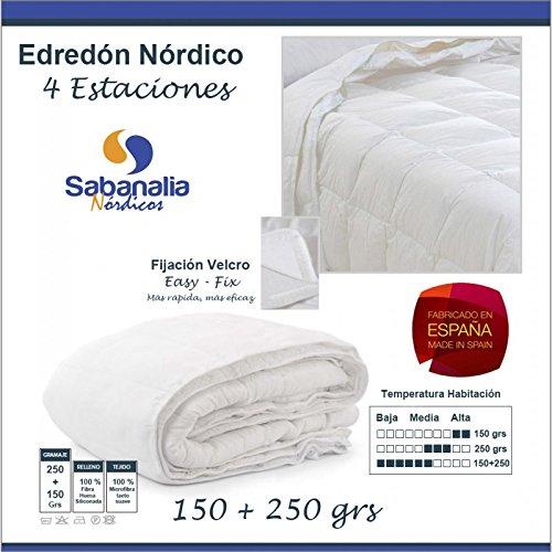 Sabanalia ENDUO-150 - Edredón nórdico dúo, fibra, 4 estaciones (varios tamaños disponibles),...