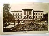 Kiel. Universität. Alte AK s/w, gel. 1916 als Marine - Schiffspost ( Feldpost ). Gebäudeansicht, Parkanlage, Personen, Militaria, 1. WK