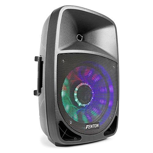 El FT1200A es un bafle activo de alta potencia con receptor BT incorporado y reproductor MP3 por USB/SD