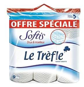 le tr 232 fle 407067 papier toilette softis 9 rouleaux fr hygi 232 ne et soins du corps