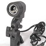 Fotografia E27 della lampadina del supporto dello zoccolo Flash...