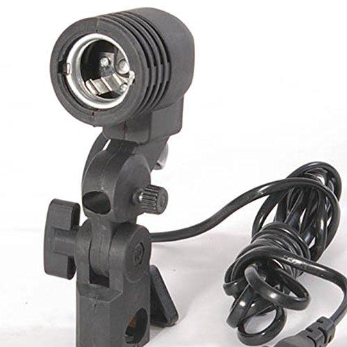 Fotografía del sostenedor de bulbo E27 del zócalo del paraguas del flash Soporte Giratorio de luz de la lámpara de fotos nuevo monte