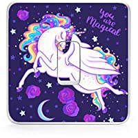 Narrow Minded Unicorn Light Switch Sticker | Unicorn Vinyl Lightswitch sticker | Unicorn Girls Room Decor and wall decor sticker for your lightswitch | Girls bedroom accessories