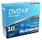 Platinum DVD+R 4,7 GB DVD-Rohlinge (16x Speed) 10er Slim Case